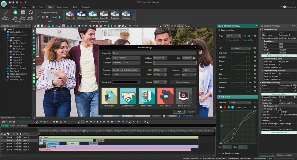 VSDC Video Editor Pro 6.4.5.140 Crack + Activation Key